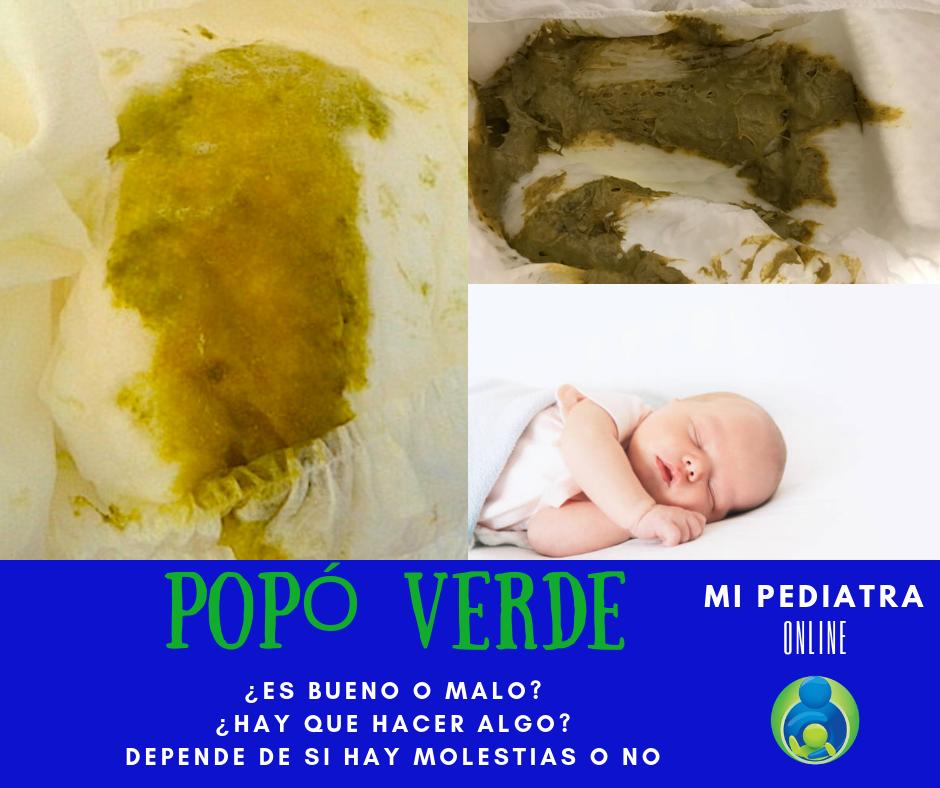 💩 Caca verde en niños y bebés