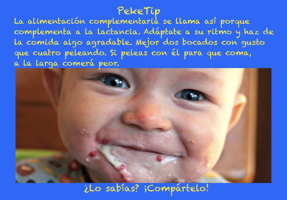 Alimentación complementaria del bebé: PekeTip 8