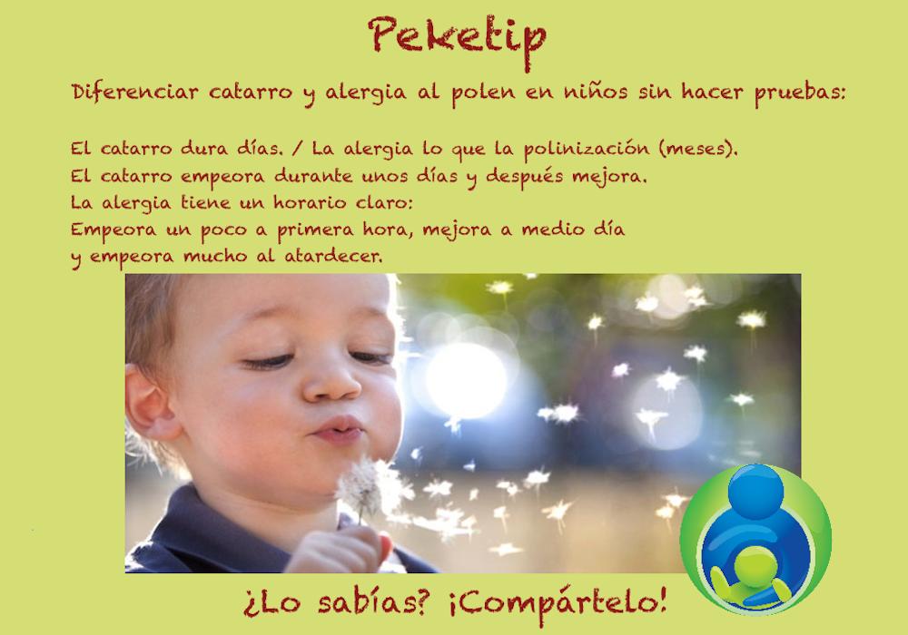 Alergia o catarro en niños: Peketip 10
