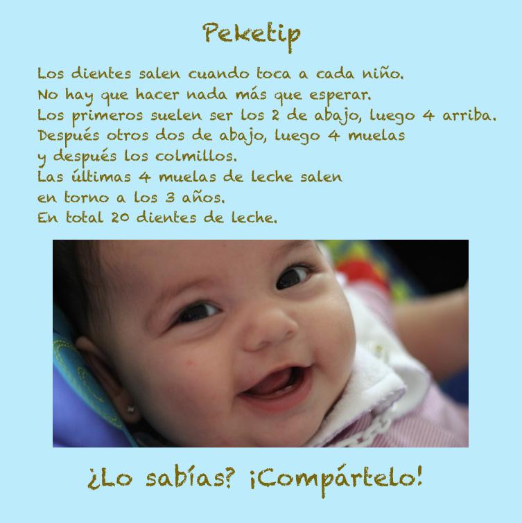 Los dientes de leche: Peketip 11