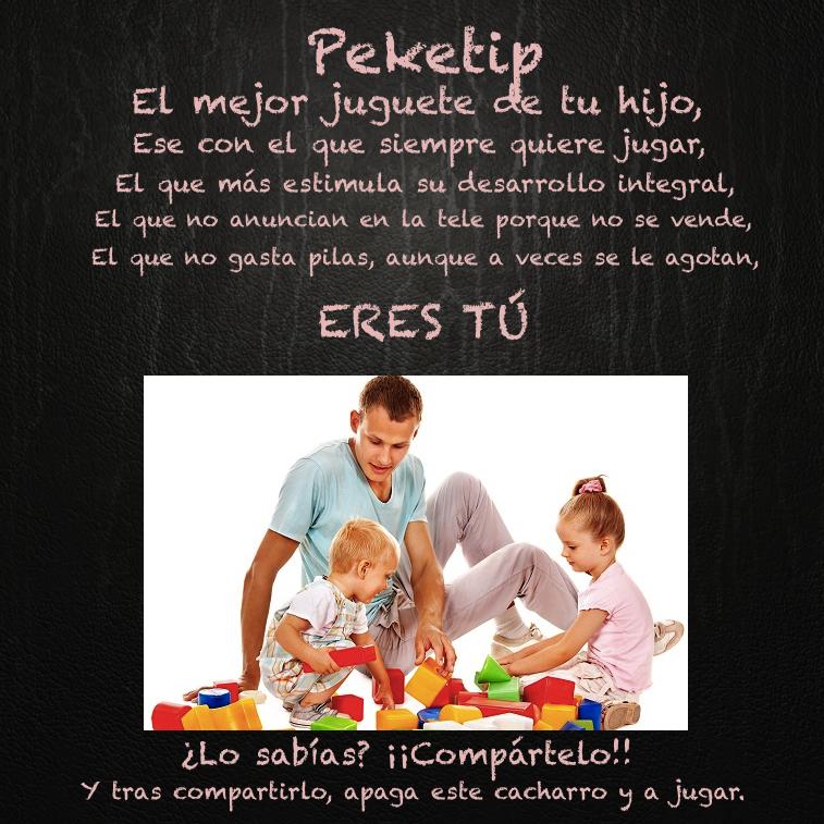 El mejor juguete de tu hijo. Peketip 19