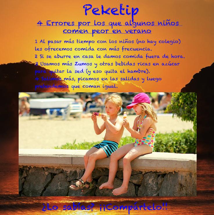 4 Errores que hacen comer peor a algunos niños en verano: Peketip 18