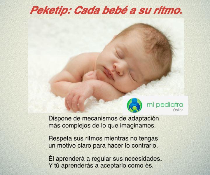 Peketip: Cada bebé a su ritmo