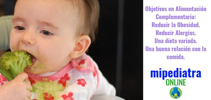 Los objetivos en la alimentación complementaria del bebé
