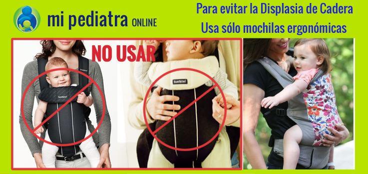 Evita la Displasia de cadera usando sólo mochilas ergonómicas