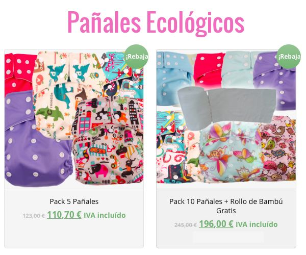 Oferta Pañales Ecológicos