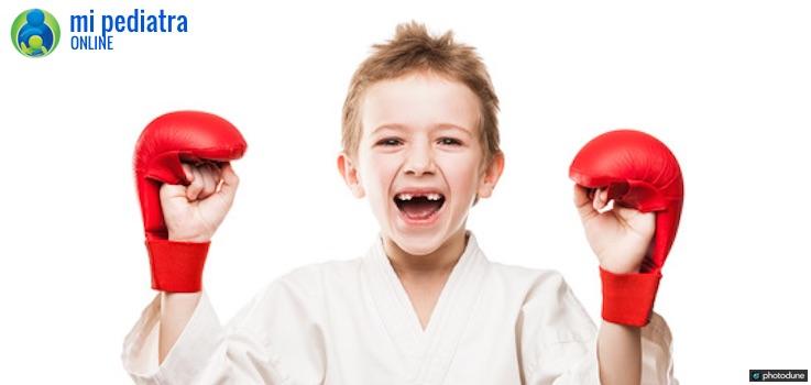 Golpes en dientes de los niños