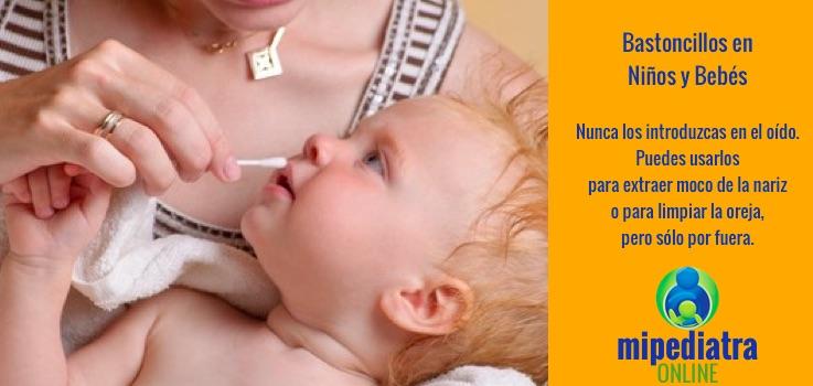 746c0276 El Cerumen del oído de los bebés. Qué es normal y qué no. Cómo limpiarlo.  ¿Es bueno o malo usar bastoncillos o sprays para limpiar el cerumen del oído ?