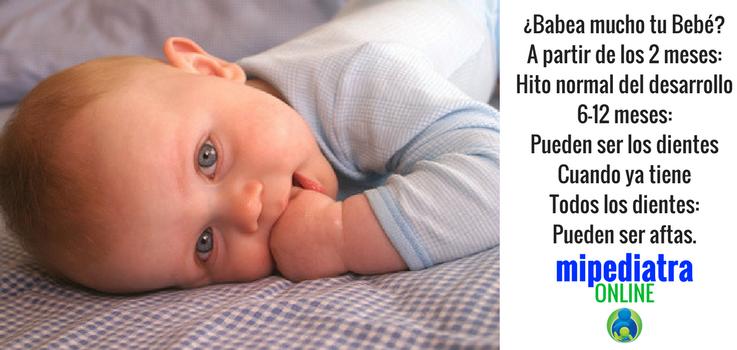 ¿Por qué mi bebé babea mucho?