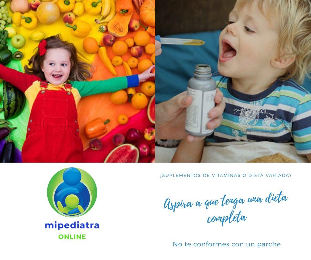Vitaminas en niños, dieta variada o suplementos