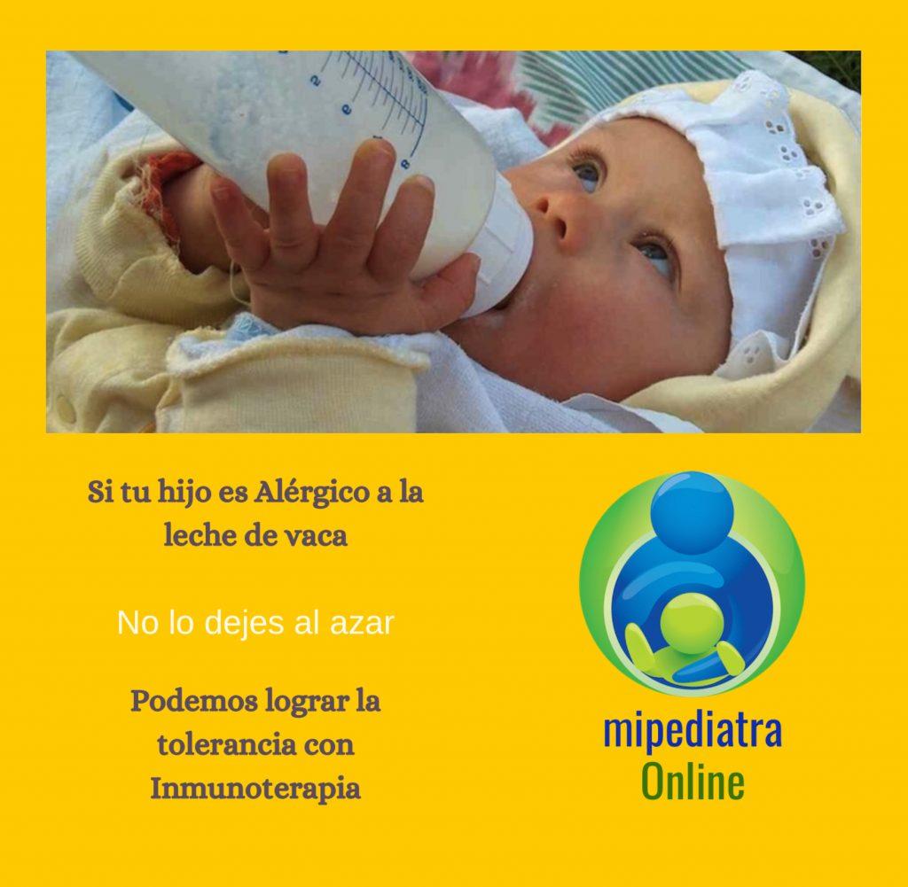 Inmunoterapia para eliminar la Alergia a Proteínas de la Leche de Vaca en niños y bebés.
